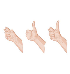 Three thumbs sketch vector
