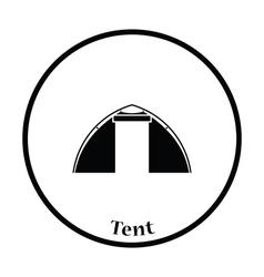 Touristic tent icon vector