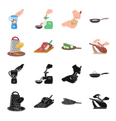 treat appliance tool and other web icon in black vector image