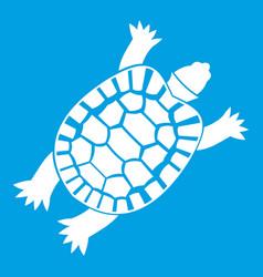 Turtle icon white vector