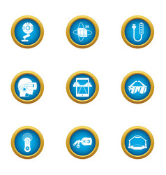 Virtuality icons set flat style vector