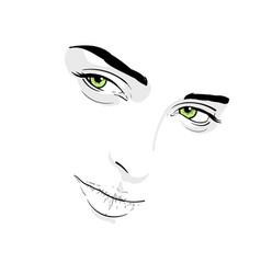 woman face portrait outlines digital sketch vector image