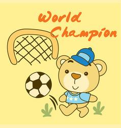 world champion cartoon vector image
