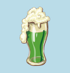 cheers happy st patrick s day beer mugs vector image