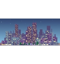 evening cityscape vector image