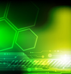 green technology background vector image vector image