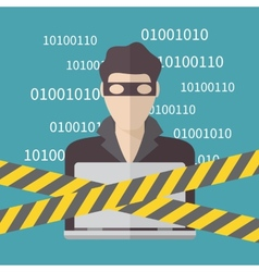Hacker Internet Security concept vector image