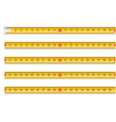 measuring tape one meter in length stock vector image