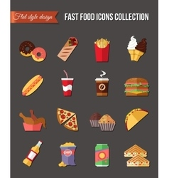Set flat icons restaurant business Table covered vector image vector image