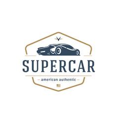 sport car car logo template design element vector image