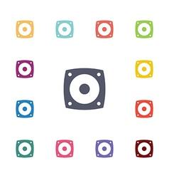 speaker flat icons set vector image