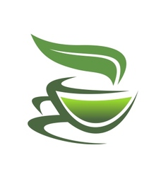 Steaming cup of tea vector