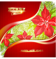 the merry christmas card vector image