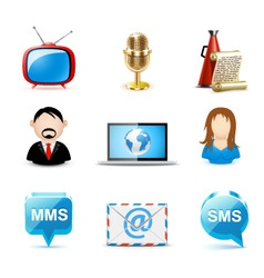 communication icons| bella vector image vector image