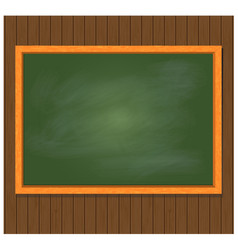 green board on brown wooden background vector image vector image