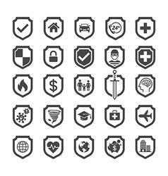 Insurance policy shield icon design vector image vector image