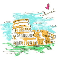 Sketch of Colosseum vector image vector image