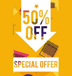 special sale offer flyer vector image