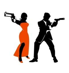 Spy couple set vector image vector image