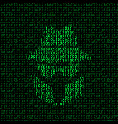 spy icon with binary code vector image