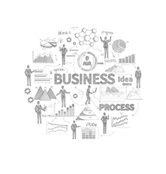 Business Concept Sketch vector image