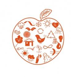 environmental apple vector image vector image