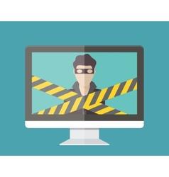 Internet security hacker vector image vector image