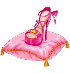 stylish princess shoe vector image vector image