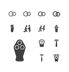 13 groom icons vector