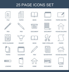 25 page icons vector