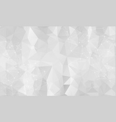abstract low poly gray technology background vector image