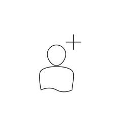 add person line icon vector image