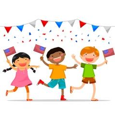american kids vector image