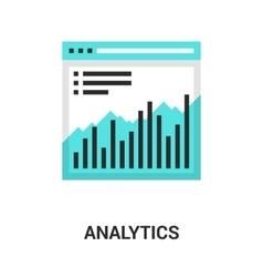 Analytics icon concept vector