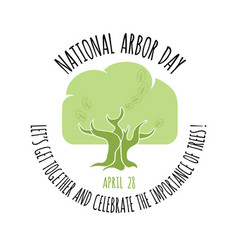 arbor day icon oak tree vector image