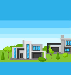 background with modern luxury houses real estate vector image