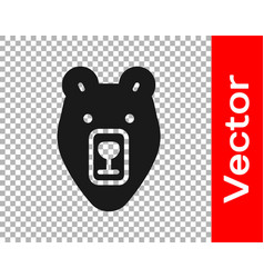 black bear head icon isolated on transparent vector image