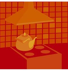 boiling kettle vector image