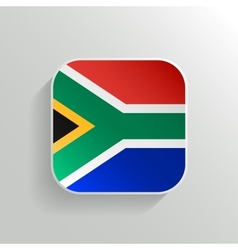 Button - South Africa Flag Icon vector image
