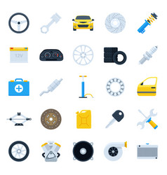 Car service cartoon icons set vector