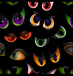 cartoon eyes beast devil monster animals vector image