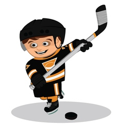 Cartoon ice hockey player vector