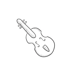 Cello sketch icon vector