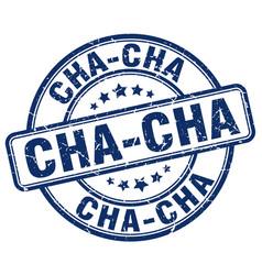 Cha-cha stamp vector