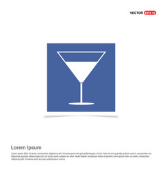 cocktail drink icon - blue photo frame vector image