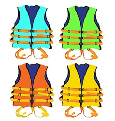 Colorful Life jacket vector