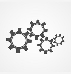 cooperation concept black silhouette cog and gear vector image