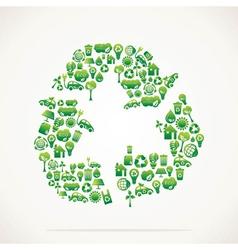 creative recycle symbol vector image
