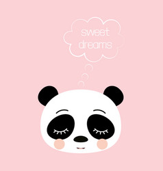 cute sleeping panda vector image