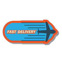delivery concept free fast food delivery sticker vector image